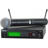 Профессиональная двухантенная вокальная радиосистема с ручным передатчиком Shure SLX24E/BETA58 L4E 638 - 662 MHz
