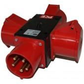 Трехфазный разветвитель PCE CEE 32A - 3x CEE 32A