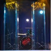 Звукоизоляционный экран Drum Shield 2x3 метра в работе