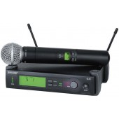 Профессиональная двухантенная вокальная радиосистема с ручным передатчиком Shure SLX24E/58 L4E 638 - 662 MHz