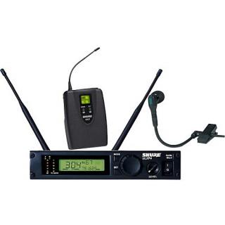 Профессиональная двухантенная инструментальная радиосистема с микрофоном на прищепке Shure ULXP14/98 800 - 820 MHz